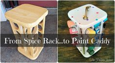 Make 16000 Projects with Step by Step Plans - repurposing an old spice rack into a craft paint organizer, organizing, painting, repurposing upcycling Make 16000 Projects with Step by Step Plans - Get A Lifetime Of Project Ideas and Inspiration! Thrift Store Crafts, Crafts To Sell, Easy Crafts, Diy And Crafts, Thrift Stores, Recycle Crafts, Wooden Crafts, Kids Crafts, Spice Rack Paint