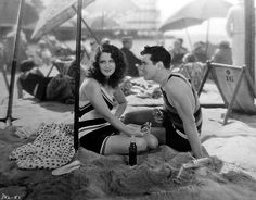 """Steve Crandall (Johnny Mack Brown) to Dolly (Norma Shearer): """"I never realized how uninteresting cement was until I met you."""" -- from Lady of Chance (1928) directed by Robert Z. Leonard"""