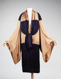 This is an excellent example of the graphic piecing typical of the mid-1920s Art Deco movement. This splendid coat was purchased at Poiret's salon in 1925,