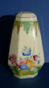 CROWN DEVON FIELDINGS HAND PAINTED FLOWER SUGAR SIFTER SHAKER 1930's Vintage Dishes, Vintage China, Toast Rack, Cream And Sugar, Lunch Boxes, Cookie Jars, Sweet Stuff, 1930s