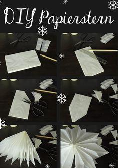 Anleitung DIY Weihnachtsstern aus Papiertüten