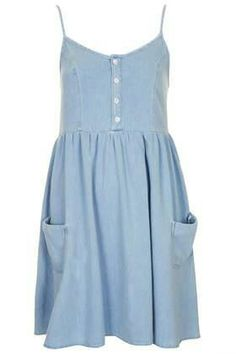 Little Denim dress. So pretty. So 90's #love Topshop - £29.00