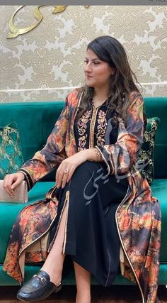 Ethnic Bohemian Caftan broderie Robe Maxi Cover Up taille unique fait main