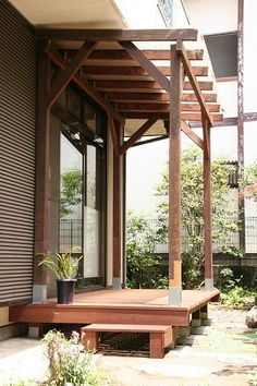 Room With Plants, Garden Cabins, Wood Deck, Japanese House, Patio Design, Interior Garden, Outdoor Diy Projects, House Yard, Dream Backyard