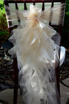Set of 10 Custom Chair Sash Curly Willow by elegantsashesandmore, $85.00