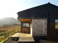 Rural House Architecture from Rural Design, A Small House Design - Terraces Rural House, D House, Scottish Country Cottages, Residential Architecture, Architecture Design, Timber Architecture, Timber Buildings, Black Shed, Black House