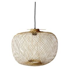 Natural Bamboo Pendant Light ($205) ❤ liked on Polyvore featuring home, lighting, ceiling lights, woven pendant light, bloomingville, bamboo lighting and bamboo lamp