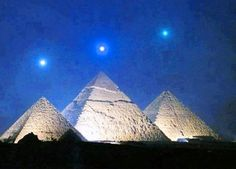 This phenomenon only happens once every 2373 years and the last event was the December 3, 2012 one hour before sunrise. According to some thinkers the Giza Pyramids have been built according to the constellation of Orion, formed by the bright stars Alnitak, and Mintaka Alnilam. The largest of these pyramids was ordered built by the pharaoh of the Fourth Dynasty of Ancient Egypt Khufu and completed around 2570. C.