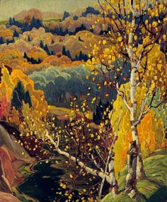 October Gold Artwork Artist: Franklin Carmichael Created: 1922 Period: Art Nouveau Genre: Pastoral