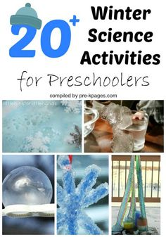 Winter Science Activities for Preschoolers. Fun science experiments and explorations for use during cold winter months. Hands-on activities to keep your kids playing and learning all winter long!