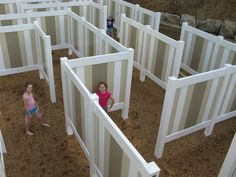 "Get lost in a ""MAZE"" asaurus! Our giant life-size maze will challenge guests of all ages."