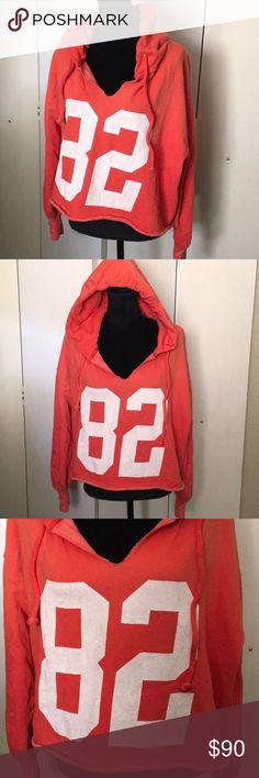 WILDFOX Cropped Oversized Hoodie Sweatshirt S New without tags/ raw hem & vintage fade Wildfox Tops Sweatshirts & Hoodies