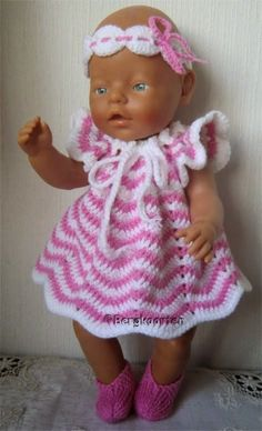 Doll Toys, Baby Dolls, Baby Born, Crochet Baby, Doll Clothes, Knitting Patterns, Haken Baby, Crochet Ideas, Places