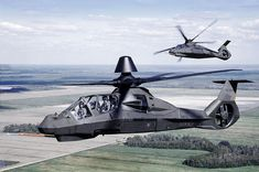 Image of the Boeing / Sikorsky Comanche Reconnaissance / Light Attack Helicopter Attack Helicopter, Military Helicopter, Military Aircraft, Jas 39 Gripen, Engin, Military Weapons, War Machine, Military Vehicles, Air Force