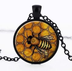 Bee Pendant Necklace for bee lovers