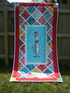 This listing is for a wholecloth Quilt Kit featuring a Cat in the ... : cat in the hat quilt kit - Adamdwight.com