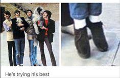 Ringo's trying his best