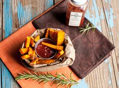 Sweet Potato Fries with Marshall's Haute SauceThyme of Taste