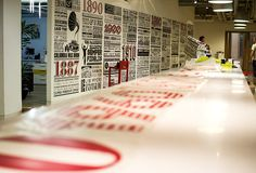 Amazing Typographic Mural for the 125th anniversary of Sony Music (Timeline Mural) by Alex Fowkes