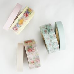 Beautiful Washi tape - French chic pastel floral.10mm, 20mmx15mMade in Japan