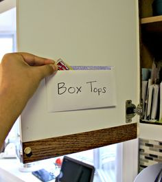 Days of Chalk and Chocolate: How I Keep My Box Tops Organized