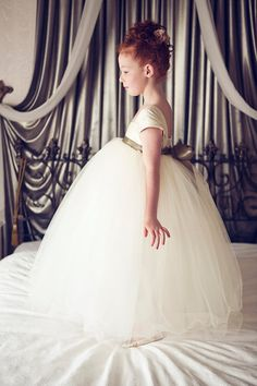@courtneywegman Flower Girl Dress Ivory by OliviaKateCouture on Etsy, $250.00