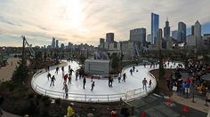 First of its kind in the US...Chicago's ice skating ribbon in   Maggie Daley Park