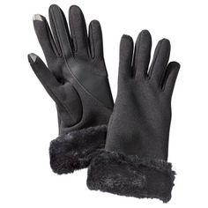 Trending 2014...Gloves - This Winter's Fashion Statement! I LOVE the faux fur cuffs and they also have tech touch built in!