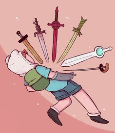 👦 Finn The Human & Swords 🗡 Time Cartoon, Cartoon Shows, Cartoon Art, Marceline, Cartoon Network, Princesse Chewing-gum, Avenger Time, Adveture Time, Adventure Time Wallpaper