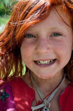 Asia: Ethnic red-haired Pathan girl, Pakistan by Furqan Riaz