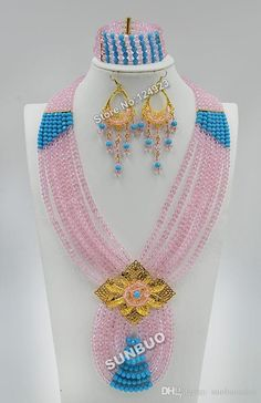 by-dhl-african-beads-jewelry-sets-crystal