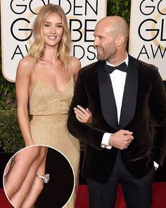 Its official!Rosieand Jasonare engaged the actors rep confirms. The former Victorias Secret model showed off her stunning diamond engagement ring at the 2016 Golden Globes on Sunday January 10.  The twohave been together for five years and they recently celebrated the holidays whileshowing off their super fit bodiesat the beach in Thailand! by jasonstathamfans