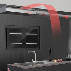 Gutmann Invisible - ceiling built-in exhaust hood Built In Cookers, Exhaust Hood, Kitchen Cabinets, Kitchen Appliances, Cooker Hoods, Kitchen Furniture, Contemporary Style, Home Kitchens, Wall Mount