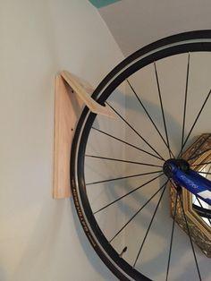 C-Ville Bike Hook // Bike Rack // Reclaimed Wood Bike Hooks, Bike Hanger, Bike Shelf, Bike Rack, Diy Storage Shed, Bike Storage, Garage Storage, Bici Fixed, Dirt Bike Room