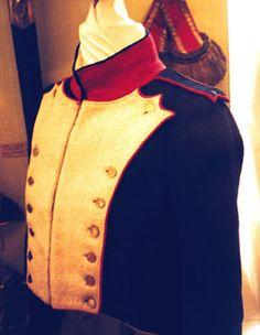 Tunic Close-up, Shako and Habit Veste, Model 1812, Sergeant of Fusiliers, 51st Line Infantry Regiment.