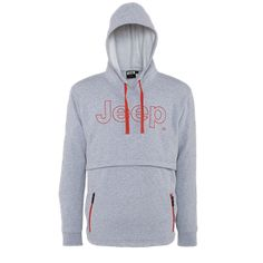 JEEP Outfitter -  MAN BRUSHED COTTON FLEECE HOODED SWEATSHIRT J4W