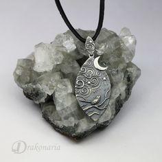 Magical Night - silver pendant by Anna Mazon. www.drakonaria.com https://www.etsy.com/shop/drakonaria