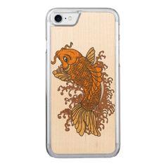 Colorful Goldfish Koi Carved iPhone 8/7 Case -nature diy customize sprecial design
