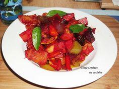 Cinco sentidos na cozinha: Legumes variados assados no forno