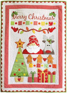 Merry Christmas Quilt pattern from Holiday Quilting Book at Stiches of Love