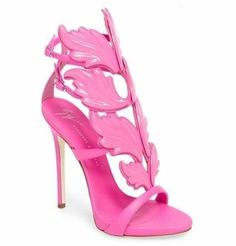 online shopping for Giuseppe Zanotti 'Cruel' Wing Sandal (Women) from top store. See new offer for Giuseppe Zanotti 'Cruel' Wing Sandal (Women) High Heels Outfit, Pink High Heels, Heels Outfits, High Heels Stilettos, Womens High Heels, Pink Outfits, Women's Shoes, Shiny Shoes, Stiletto Shoes