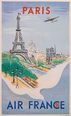 Ancienne affiche Air France