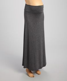 Take a look at this Charcoal Mid-Belly Maternity Maxi Skirt on zulily today!