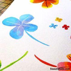 beautiful colorful cor creative desenho drawing illustration instaart paint sketchbook watercolor aquarela cute fofo kawaii dwgdaily trevo fourleaf