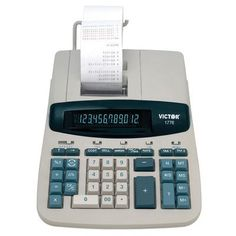Victor Technology 1776 TAA Compliant Ribbon Printing Calculator