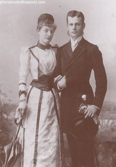 Prince Maximilian and his Imperial and Royal Highness Princess Margarete of Thurn and Taxis, married July 1890