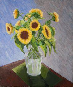 Sunflower 50x60 cm. Anthony van Gelder Pittore