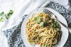 Spicy Asian Peanut Noodles — Up Close & Tasty