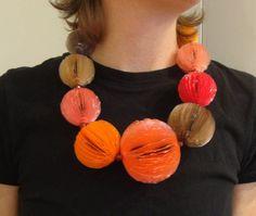 Yuka Saito..Gem Ball necklace...Is this a fun piece or what??