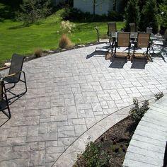 Ashler slate stamped concrete patio - traditional - Patio - Cleveland - Fordson Concrete